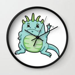 Little Happy Monster Wave Wall Clock