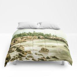 Acadia National Park Maine Rocky Beach Comforters