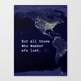 awesome travel quote Canvas Print