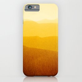 gradient landscape - sunshine edit iPhone Case
