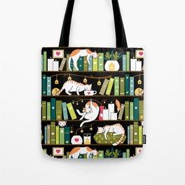 Library cats Umhängetasche