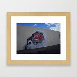 Southern Pacific Mural in Lodi, CA Framed Art Print