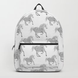 White Horse Pattern Backpack
