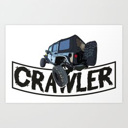 Offroad Scale rc cars a Crawling rock crawler car Edit Art Print