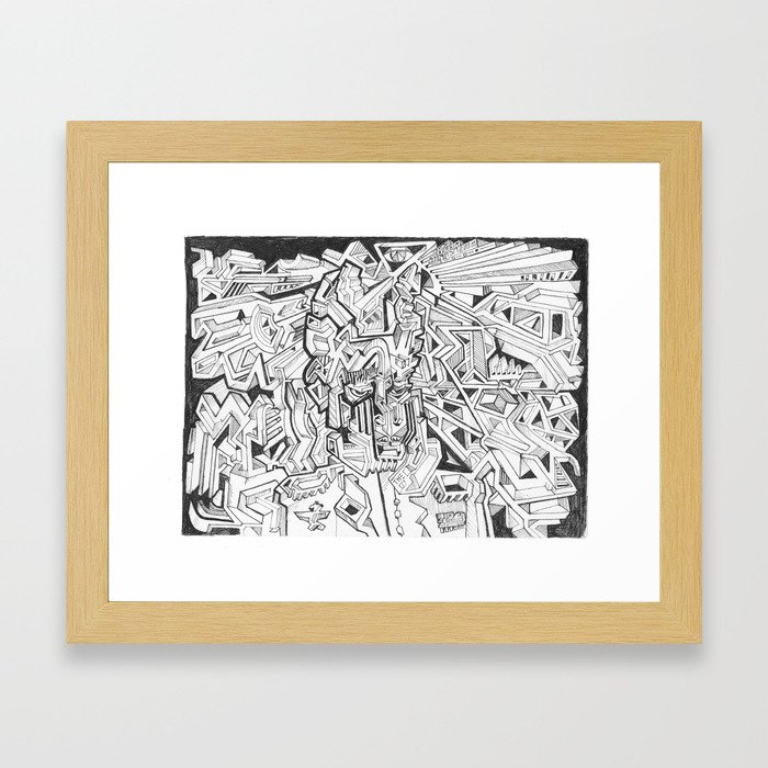 THE NAPOLEON BILLY-GOAT Framed Art Print