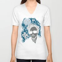 tim burton V-neck T-shirts featuring Burton´s Universe by 2mzdesign