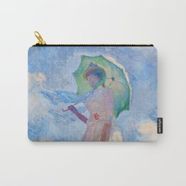 Claude Monet - Woman with a Parasol facing left Carry-All Pouch