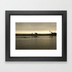 Row, Row, Row Framed Art Print