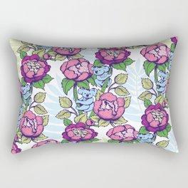 Peony flowers and koalas bears Rectangular Pillow