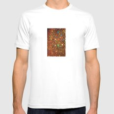 Color Travel part 1 Mens Fitted Tee MEDIUM White