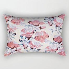 Sun Washed Beach Rose Print Rectangular Pillow