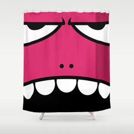 Monsters⁴ : Red Shower Curtain