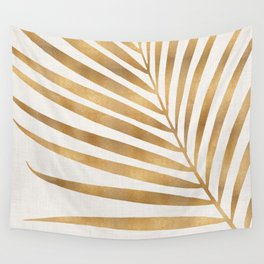 Metallic Gold Palm Leaf Wall Tapestry