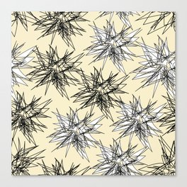 Black and White Squiggles Canvas Print