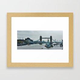 tower bridge with hms belfast Framed Art Print