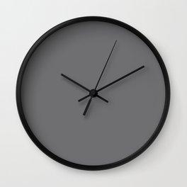 Neutral Gray Color Wall Clock
