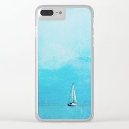 sailing blue Clear iPhone Case