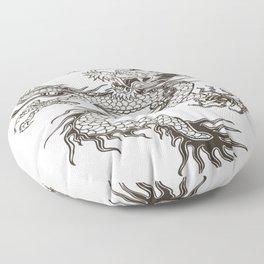 Chinese dragon Illustration Floor Pillow