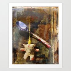 The Care and Feeding of Teddy Art Print