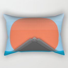Symmetric Mountains Rectangular Pillow