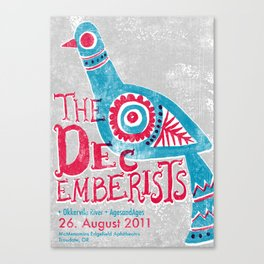 The Decemberists Gigposter Canvas Print