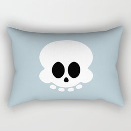 Skully light blue version Rectangular Pillow