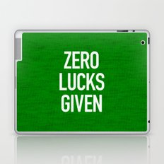 Zero Lucks Given Laptop & iPad Skin