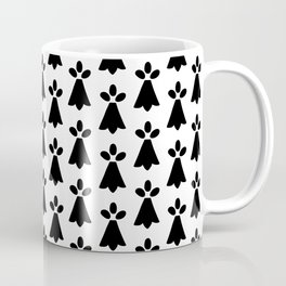 Black and White Ermine Spots French Country Print Coffee Mug