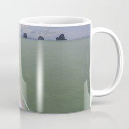 Thai boat and limestone islands Coffee Mug