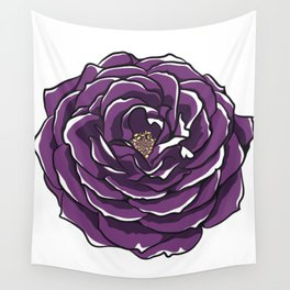Purple Rose Flower Wall Tapestry