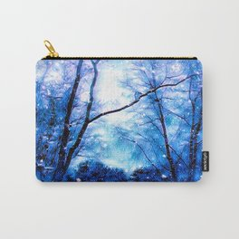Winter Snow Storm Carry-All Pouch
