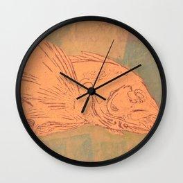 Pale Fish Wall Clock