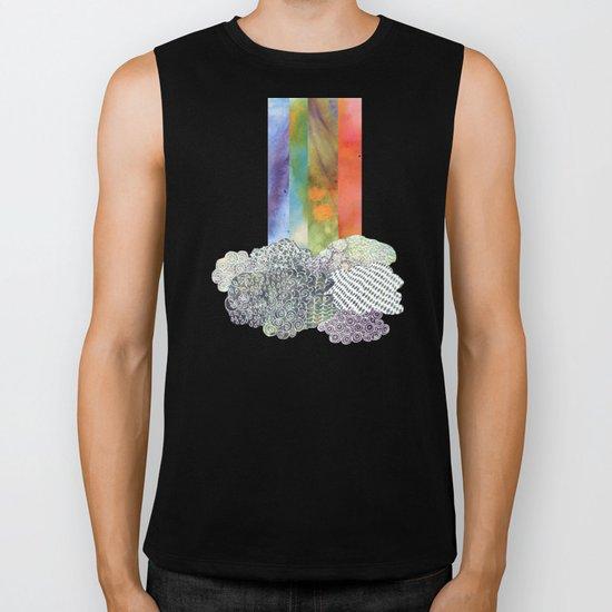 Clouds & Rainbow Biker Tank