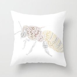 My Spirit Animal is a Bee Throw Pillow