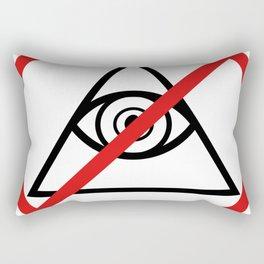 Anti Illuminati Rectangular Pillow