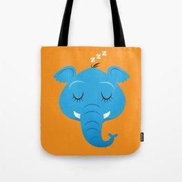 Sleepy Elephant Tote Bag