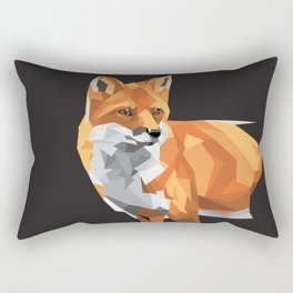 Geometric Fox Rectangular Pillow