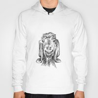goat Hoodies featuring Goat by Sarah Mosser
