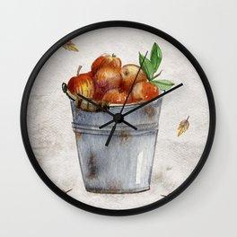 Apple Pail Wall Clock