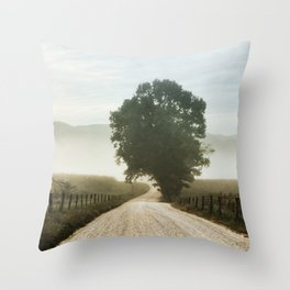 Cades Cove Tree of Life Landscape Photograph Gatlinburg Tennessee Throw Pillow