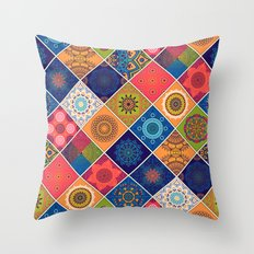 Boho Mandela Pattern Throw Pillow