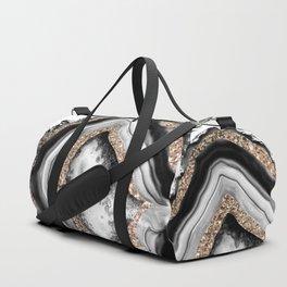 Agate Gold Glitter Glam #1 #gem #decor #art #society6 Duffle Bag