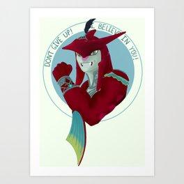 Motivational Shark Prince Art Print