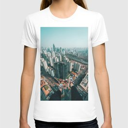 Aerial Cityscape and Legs (Color) T-shirt