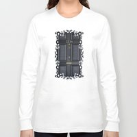 kindle Long Sleeve T-shirts featuring Classic Old sherlock holmes 221b door iPhone 4 4s 5 5c, ipod, ipad, tshirt, mugs and pillow case by Three Second