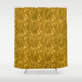 Gold Marble Design Shower Curtain