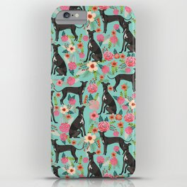 Italian Greyhound pet friendly pet portraits dog art custom dog breeds floral dog pattern iPhone Case