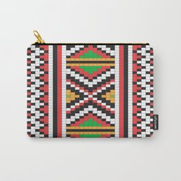 Slavic cross stitch pattern with red green orange black white Carry-All Pouch