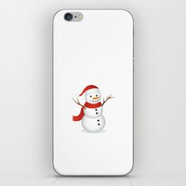 Snowmen Fall from Heaven Unassembled T-Shirt iPhone Skin