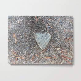 Wild Rock Heart Metal Print